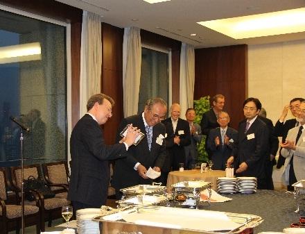 Gokurosama Party  at Mitsubishi Club, Terry with Tim