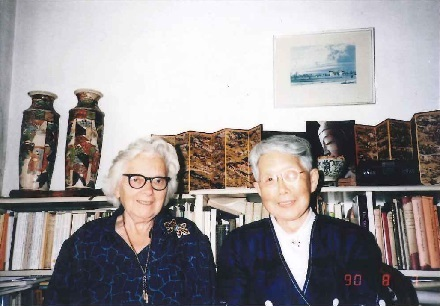 Prof. M.C. Bradbrook and Prof. Ineko Kondo, August 1990