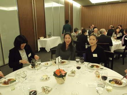 Welcome dinner for new C&O President HE Mr Tim Hitchens and his wife. Tokyo Club - 1