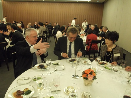 Welcome dinner for new C&O President HE Mr Tim Hitchens and his wife. Tokyo Club - 2