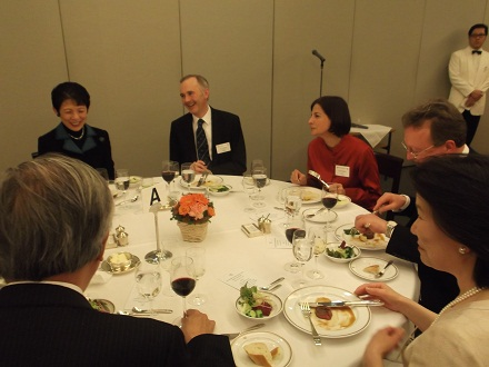 Welcome dinner for new C&O President HE Mr Tim Hitchens and his wife. Tokyo Club - 3