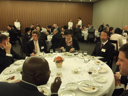 Welcome dinner for new C&O President HE Mr Tim Hitchens and his wife. Tokyo Club - 5
